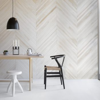 90mm Lining Board - Distressed White (Chevron pattern)
